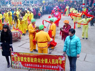 春节习俗锣鼓表演