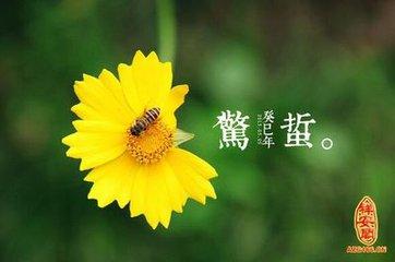 """每年3月5日或6日,太阳到达黄经345度时,交""""惊蛰""""节气。蛰,是藏的意思。在二十四节气中,惊蛰反映的"""