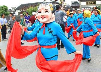 传统节日习俗扭秧歌