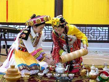 藏族茶文化图片