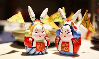 中秋节玩兔儿爷