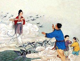 """《诗经·小雅·大东》记载:""""维天有汉,监亦有光。跤彼织女,终日七襄。虽则七襄,不成报章。碗彼牵牛"""