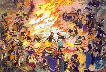 彝语支民族火把节的传说与习俗