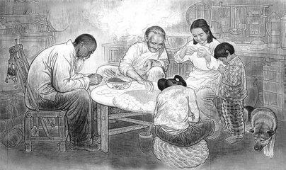 """冬至这天,宁波各家各户用糯米粉搓圆子,俗称""""冬至汤果"""",加番薯的叫""""番薯汤果"""",取""""翻身""""意。小"""
