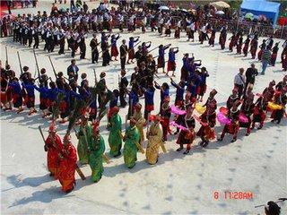 景颇族春节图片