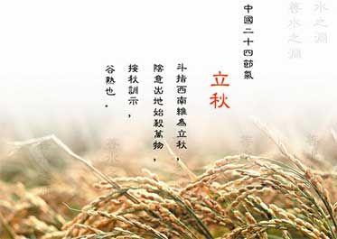立秋的诗句-《立秋》  【宋 刘翰】  乳鸦啼散玉屏立,一枕新凉一扇风。  睡起秋声无觅处,满阶梧叶月