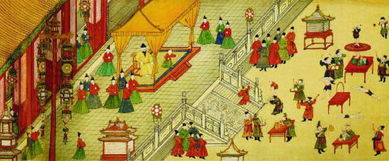 宋代上元节  上元即正月十五,今称元宵节。古时上元节除了吃元宵(汤团)、放鞭炮之外,还有各种体育活动,